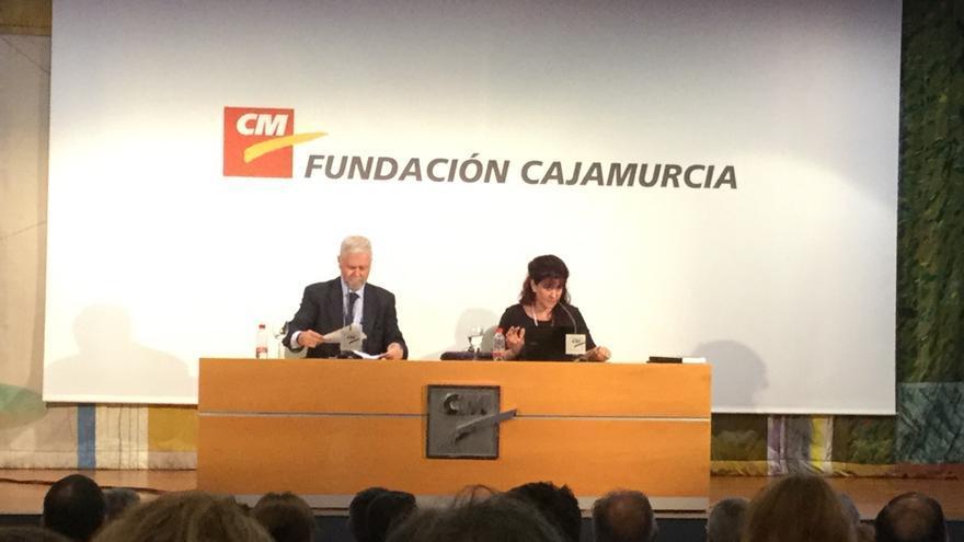 Charla de Alicia Rubia, vicesecretaria de Vox, en CajaMurcia