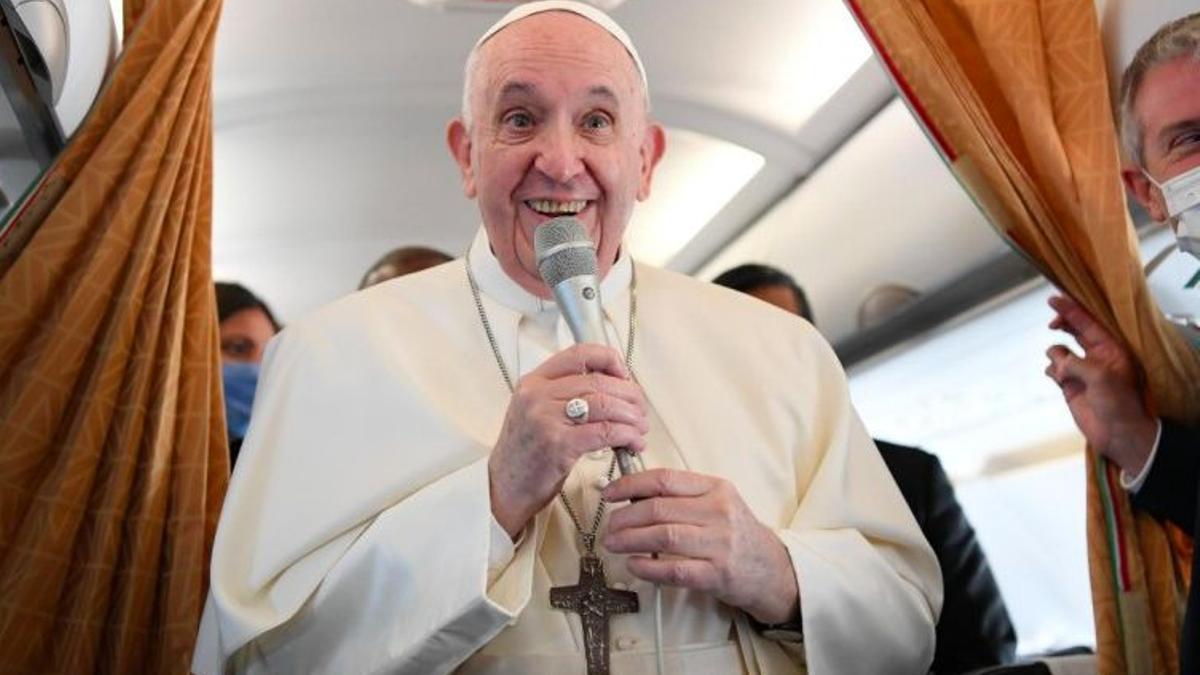 Francisco, en el vuelo papal