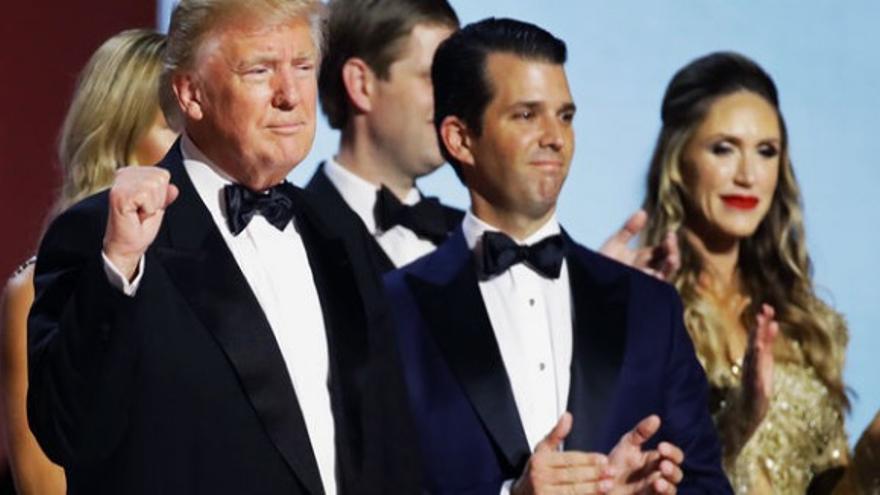 Donald Trump y Donald Trump Jr.