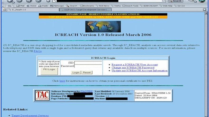 Buscador secreto ICReach