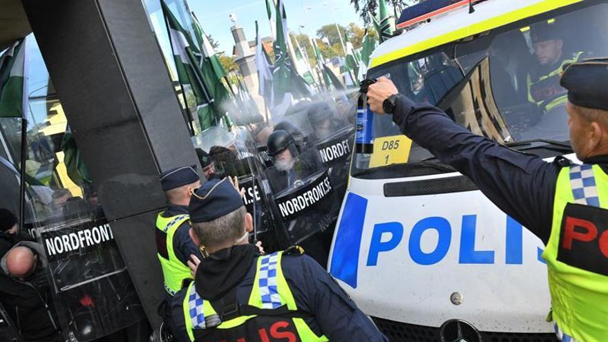 Cerca de treinta detenidos en Suecia en una manifestación neonazi