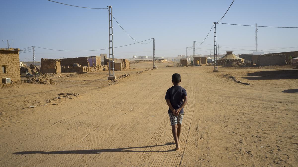 Campamento de refugiados saharauis de Dajla, en Tinduf (Argelia).