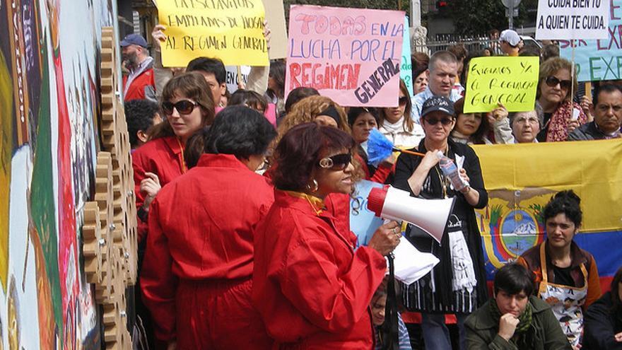 Manifestación por los derechos de las empleadas del hogar. Flick: Olga Berrios