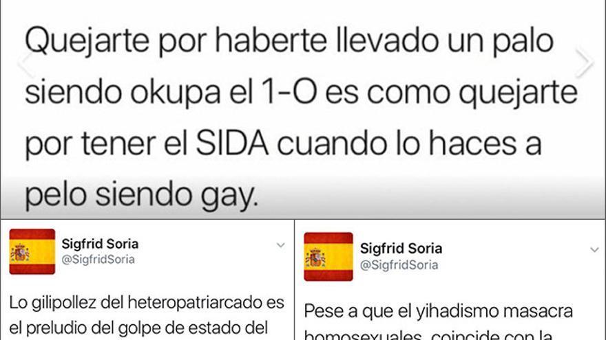 Tuits homófobos de Sigfrid Soria por los que le cancelaron su cuenta en Twitter