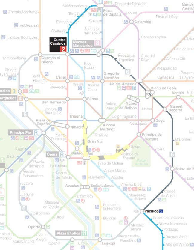 Trayecto alternativo al corte de la línea 1 de Metro por la línea 6
