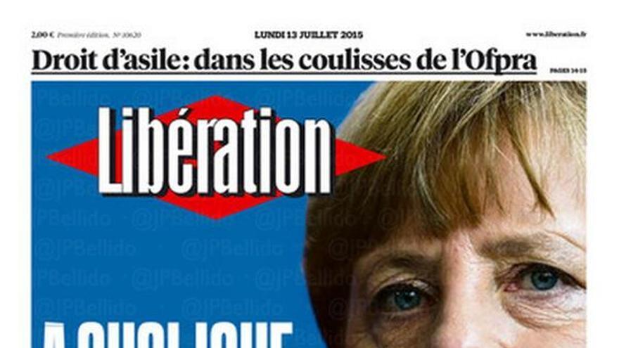¿A qué juega Alemania?, se pregunta la portada de Libération.
