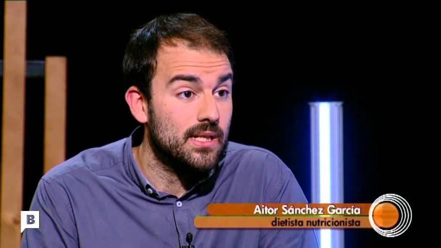 El nutricionista Aitor Sánchez García, en una entrevista en TV