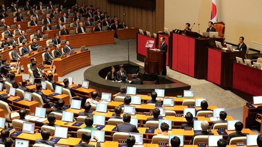 """El parlamento surcoreano votará en diciembre el """"impeachment"""" contra la presidenta"""