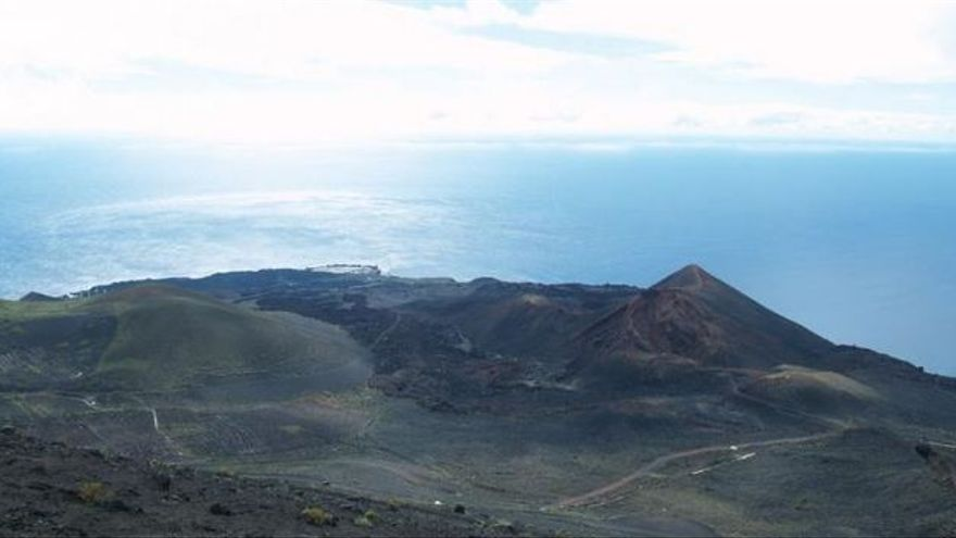 Imagen del volcán Teneguía, en Fuencaliente.