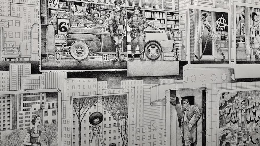 """Ilustración de Max y Sergio García: """"Viñetas desbordadas"""""""