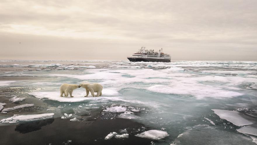 El Silver Explorer en el Ártico / Matthew Scott (SS Global Mkt Team).