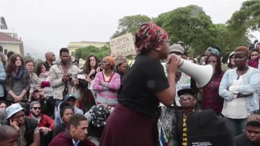 Protesta contra Jacob Zuma el pasado mes de abril