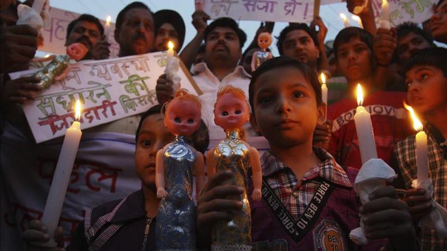 Hospitalizada una niña de 4 años tras ser violada y sodomizada en la India