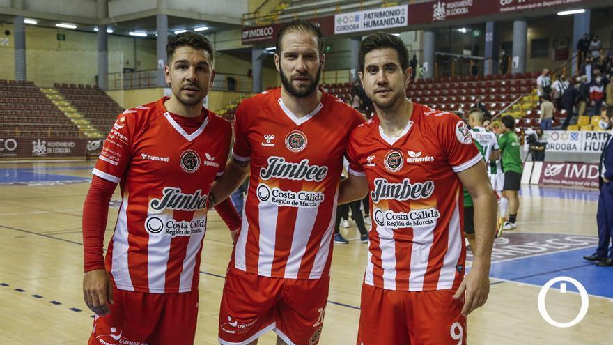 Andresito, Solano y Bebe, jugadores cordobeses del Jimbee Cartagena