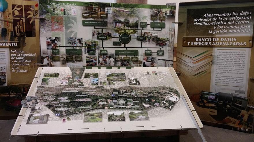 Exposición sobre el Jardín Canario.