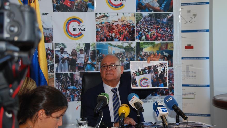 """Embajador de Venezuela pide a España que condene el """"terrorismo"""" de la oposición y la acusa de """"doble rasero"""""""