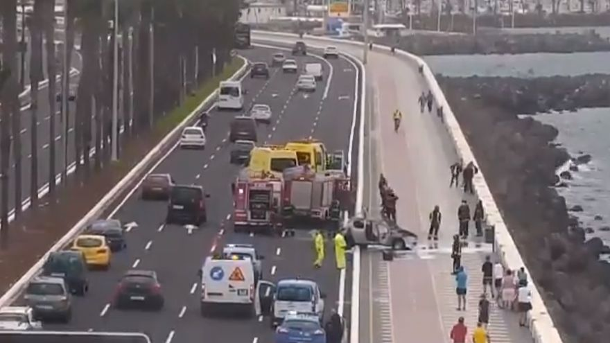 Accidente en la Avenida Marítima de la capital grancanaria.