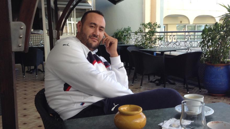 Faisal Abdessadik Mohand antes de su detención en Marruecos