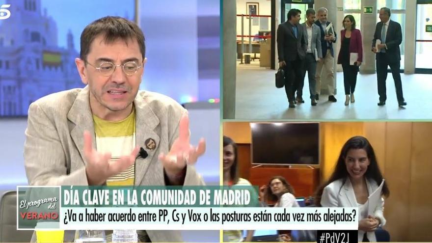 Monedero carga contra Íñigo Errejón en 'El programa del verano' e insinúa que es de derechas