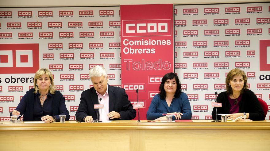 Rueda de prensa del Área Pública de CCOO-CLM