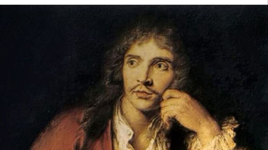 Retrato del dramaturgo y actor francés Molière. (DP).