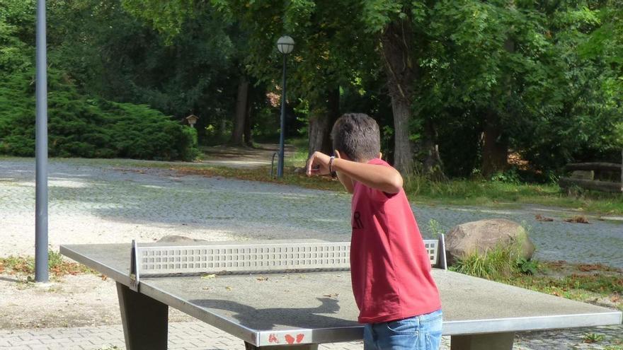 José Carlos, en una visita previa al colegio de Alemania el verano pasado con sus padres.