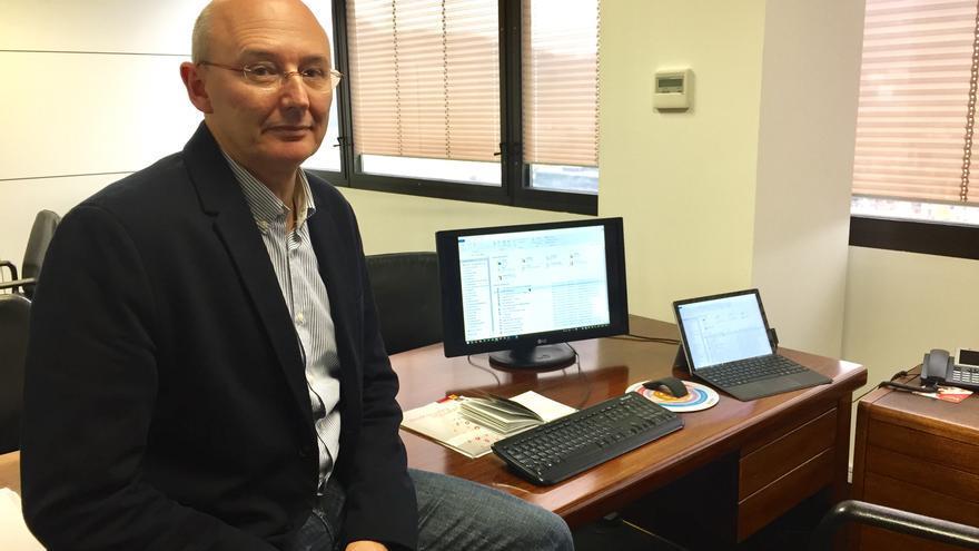 El responsable de innovación de la Corporación Mondragon, Juan Mari Palencia, en su despacho.