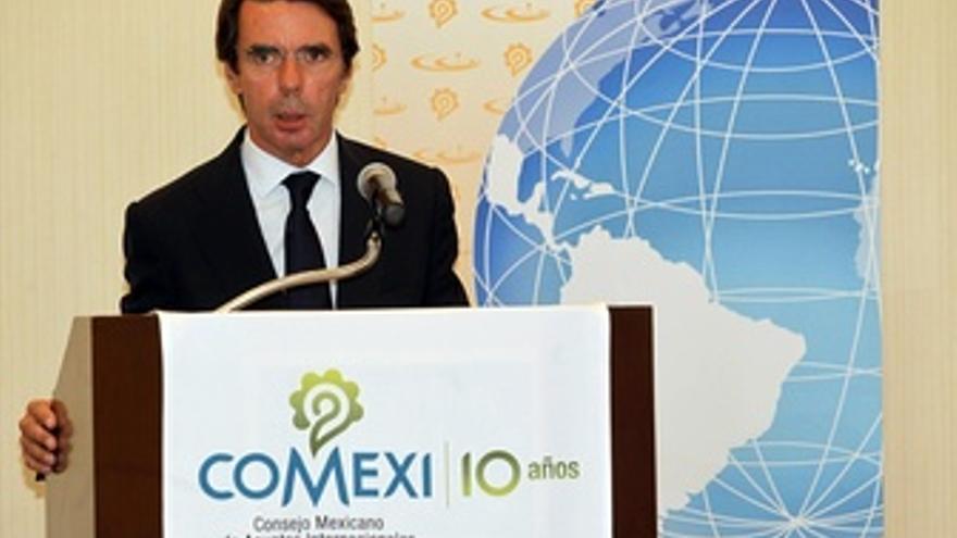 Aznar en una conferencia en México