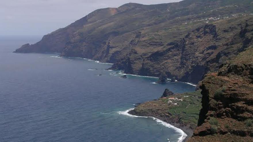 En la imagen, litoral de la costa de La Fajana, en Garafía.