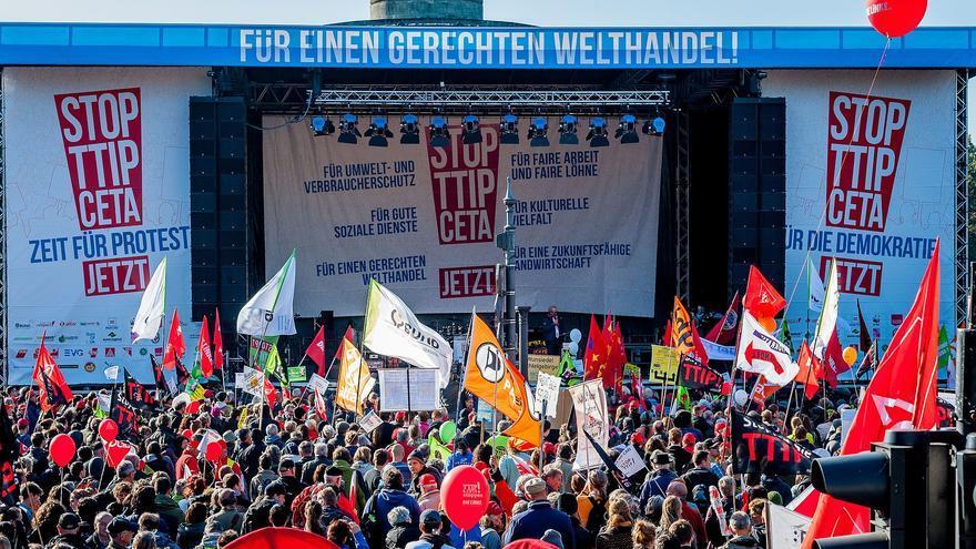 Acto contra el TTIP y el CETA en Berlín