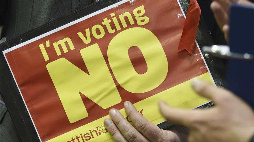 Propaganda a favor del 'no' en el referéndum de Escocia.