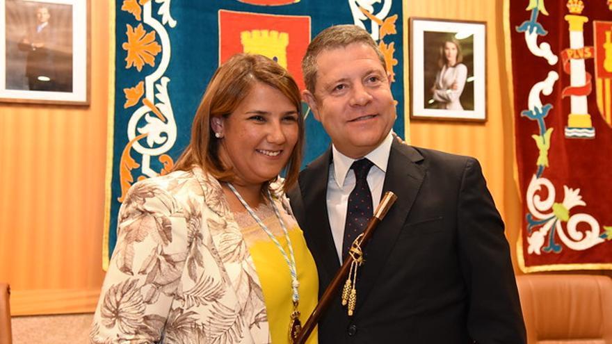 Agustina García y Emiliano García-Page FOTO: José Ramón Márquez // JCCM