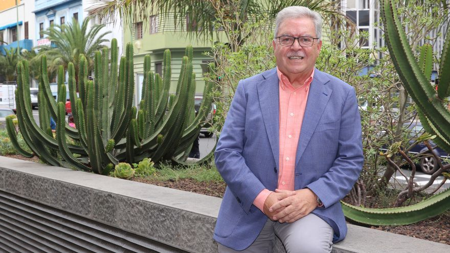 José Miguel Bravo de Laguna, en la sede del Cabildo de Gran Canaria.(ALEJANDRO RAMOS)