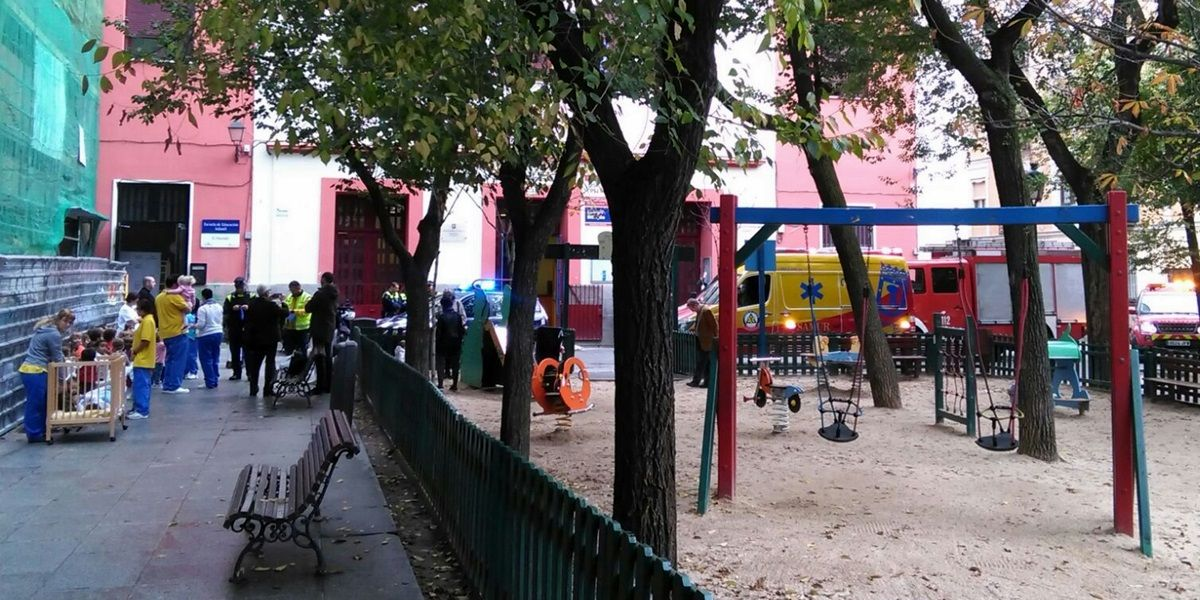 Momento del desalojo de la escuela infantil | SOMOS MALASAÑA