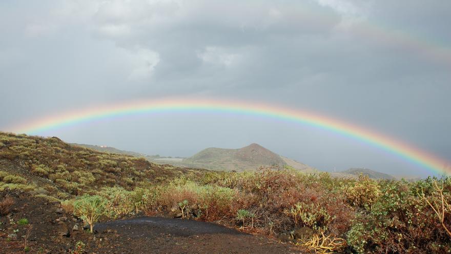 Lluvias débiles a moderadas ocasionales este sábado en el norte de La Palma