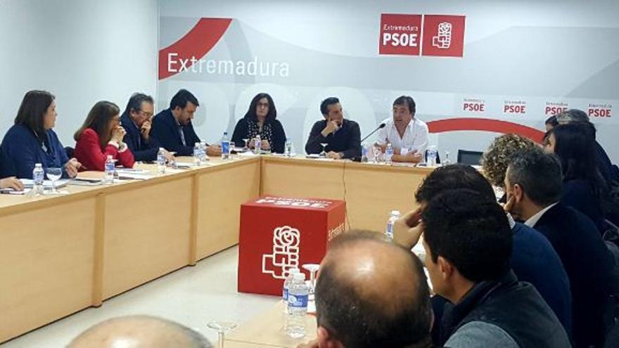 Ricardo Cabezas Fernandez Vara Ascension Godoy ejecutiva regional PSOE Extremadura