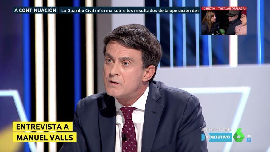 """Manuel Valls, candidato a la alcaldía de Barcelona, en una entrevista en """"El Objetivo"""""""