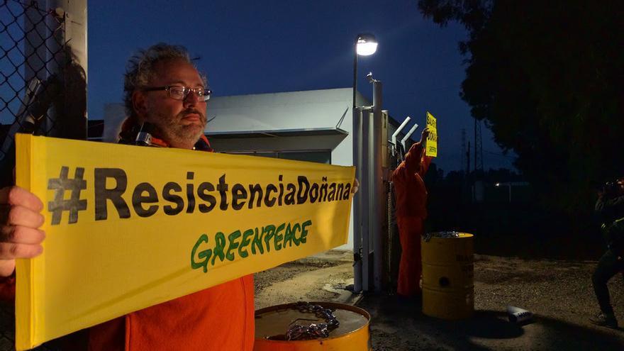Protesta de Greenpeace en Doñana.