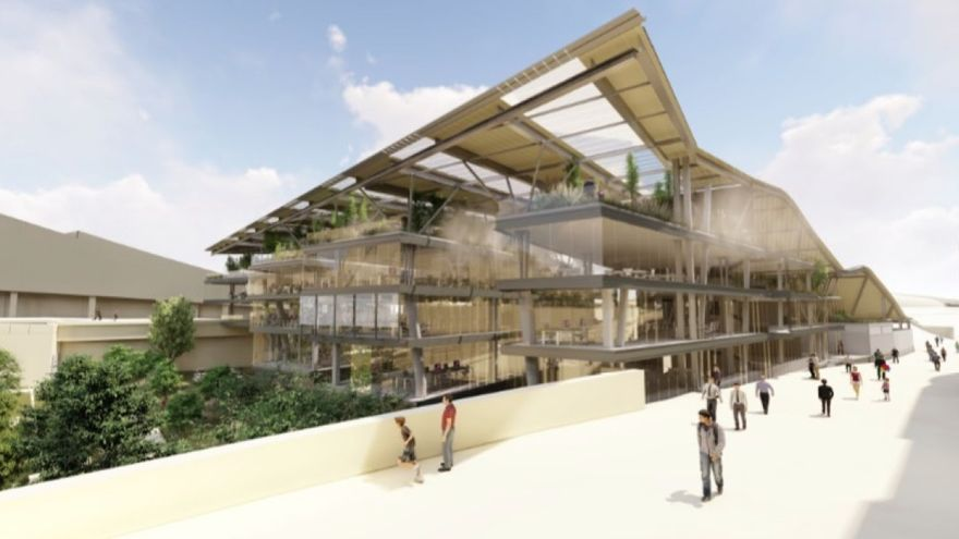 Recreación del futuro edificio Fontán en la Cidade da Cultura