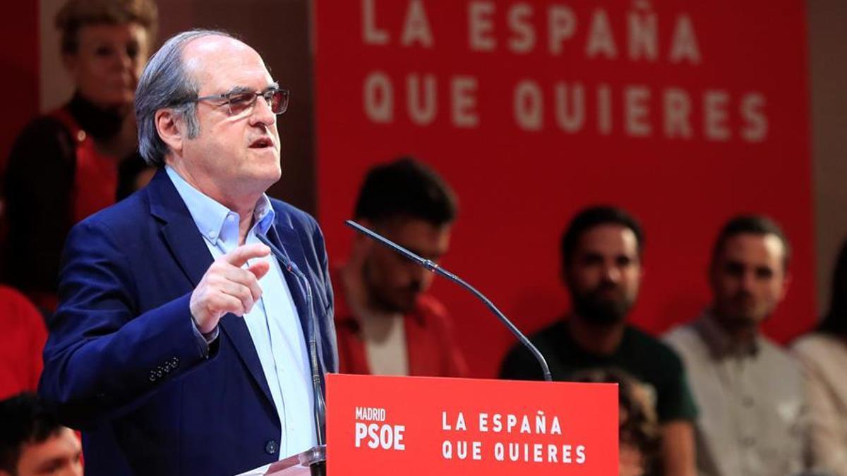 El candidato del PSOE a la Comunidad de Madrid, Ángel Gabilondo