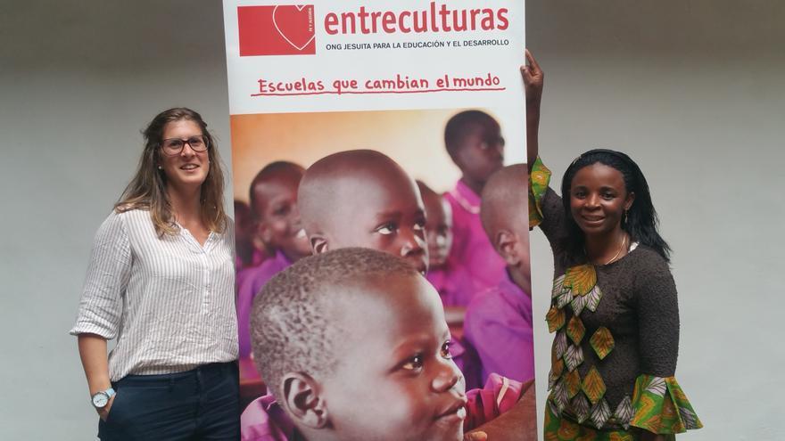 Elisa Orbañanos y  Hombeline Bahati han visitado La Palma. Foto: LUZ RODRÍGUEZ.