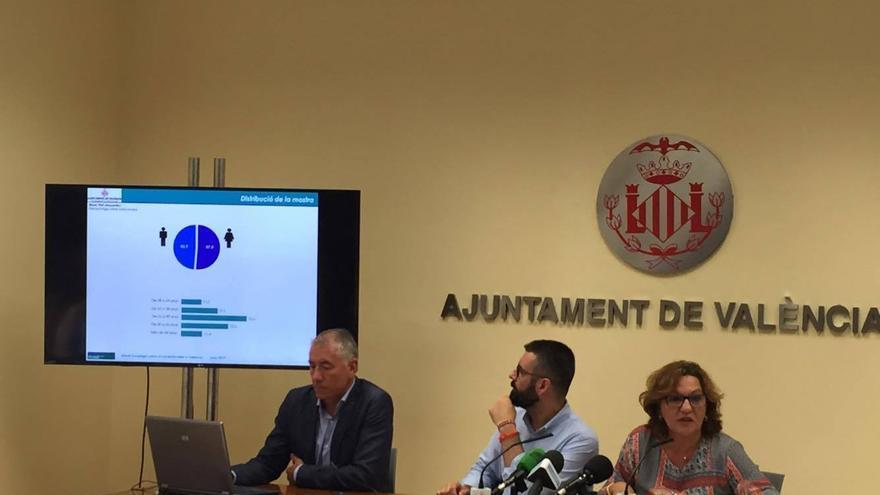 El edil y presidente de JCF, Pere Fuset, en la presentación de la encuesta