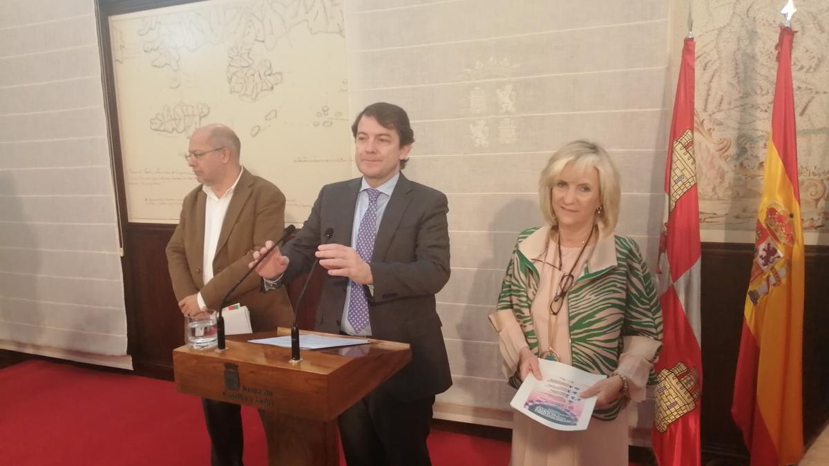 Francisco Igea, Alfonso Fernández Mañueco y Verónica Casado en una imagen de archivo.