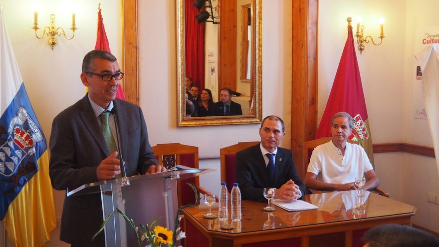 José Rodríguez Escudero durante la lectura del pregón. Foto: JOSÉ AYUT.