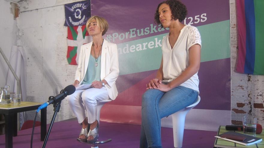 """Alba (Podemos) aboga por una Euskadi en la que """"no haga falta el carnet de ningún partido para tener oportunidades"""""""