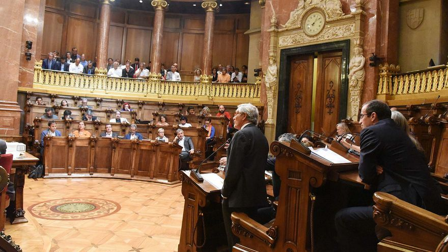 Imagen de un pleno del Ayuntamiento de Barcelona