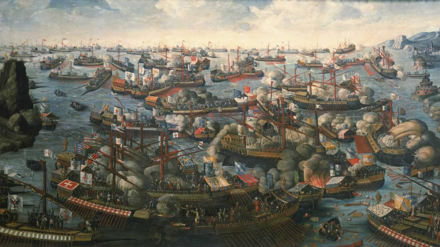 "Anónimo ""Batalla de Lepanto, 7 de Octubre de 1571"". © 2012. National Maritime Museum, London/Photo Scala"