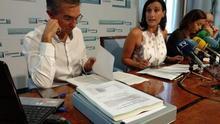 César Díaz, Gema Igual y Miriam Díaz en rueda de prensa.   R.A.