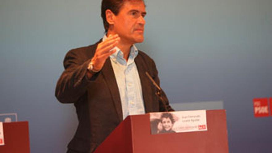 López Aguilar, este sábado, durante una rueda de prensa. (ACFI PRESS)