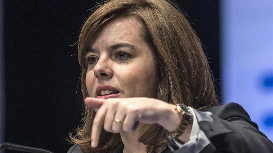 Sáenz Santamaría destaca que ya hay menos paro que al inicio de la legislatura